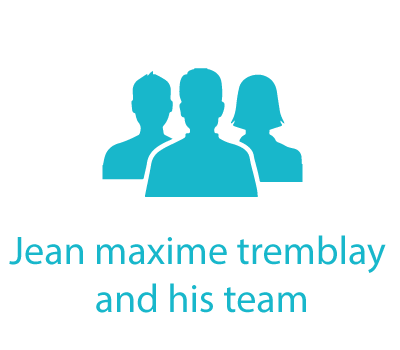 Jean-Maxime Tremblay and his team