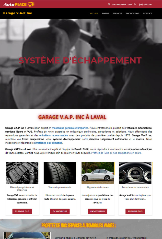 Talium communication clients et banni re automobile for Client mystere garage automobile